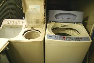 クリーニング屋さんの洗濯機