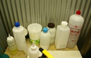 クリーニング屋さんで使われている洗剤