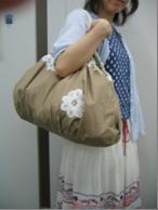 バッグひとつで買い物もスマート ! 綿素材にバテンレースをあしらったレジかご対応エコバッグの会