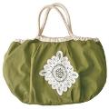 ■バッグひとつで買い物もスマート ! 綿素材にバテンレースをあしらったレジかご対応エコバッグの会