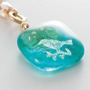 アトリエメイド ガラスの粒に刻んだ散歩道の小さな自然付け替えを楽しむアクセサリーの会