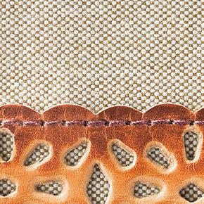 アトリエメイド素材違いで使い分け!パンチング手染め革使いのがまぐちミニバッグの会
